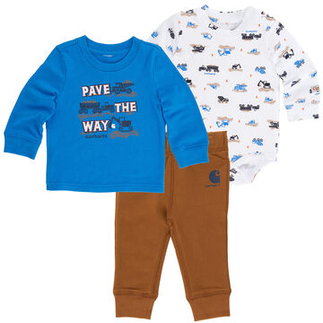 Carhartt Infant/Toddler Boys' Pave The Way Pant Set, 3pc