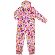 Candy Pink Girl's Sloth Pajama Onesie