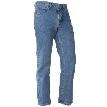 Lee Jeans Mens Regular Fit Straight Leg Stonewashed Jean