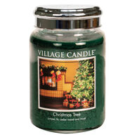 Village Candle Large Glass Jar Candle - Christmas Tree
