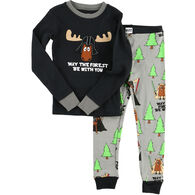 Lazy One Toddler Forest Be With You PJ Set