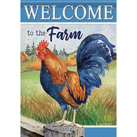 Carson Home Accents Rooster On Fence Garden Flag