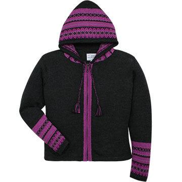 Alpaca Imports Women's Titicaca Hooded Cardigan Sweater