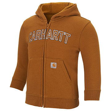 Carhartt Boys' Logo Fleece Zip Hooded Sweatshirt