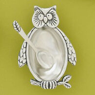 Basic Spirit Owl Salt Cellar With Spoon