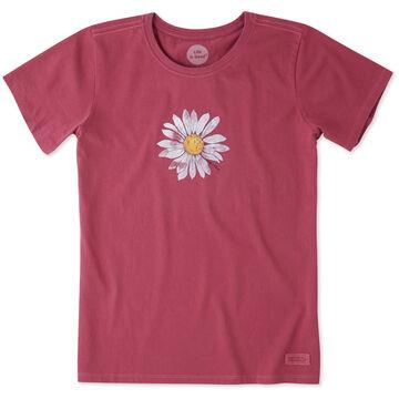 Life is Good Womens Big Daisy Crusher Short-Sleeve T-Shirt