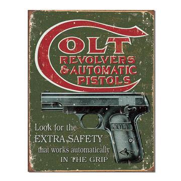 Desperate Enterprises Colt Extra Tin Sign