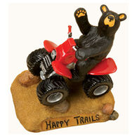 Big Sky Carvers Happy Trails Four-Wheeling Bear Figurine