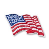 Girl Scouts American Flag Wavy Design Iron-On Patch