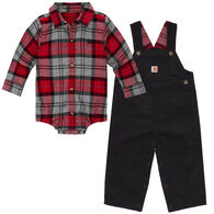 Carhartt Infant/Toddler Boys' Lumberjack Overall Set, 2pc