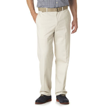 Haggar Mens Big & Tall Work To Weekend Plain-Front Pant