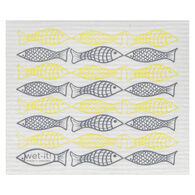 Wet-it! Swedish Cloth - Catch of the Day Yellow/Grey