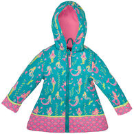 Stephen Joseph Children's Mermaid Rain Jacket