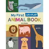 My First Lift the Flap Animal Board Book by Amy Mullen