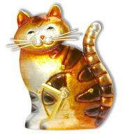DecoFLAIR Cat Magnet Clock