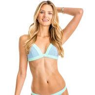 Southern Tide Women's Oceanside Seersucker Triangle Bikini Top