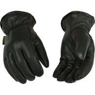 Kinco Men's Lined Grain Goatskin Leather Driver Glove