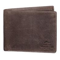 Buxton Men's Expedition Tumbled Buffalo RFID Slimfold Wallet