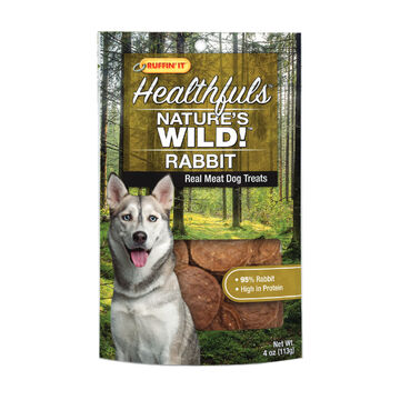 Ruffin It Healthfuls Natures Wild! Rabbit Dog Treat - 4 oz.