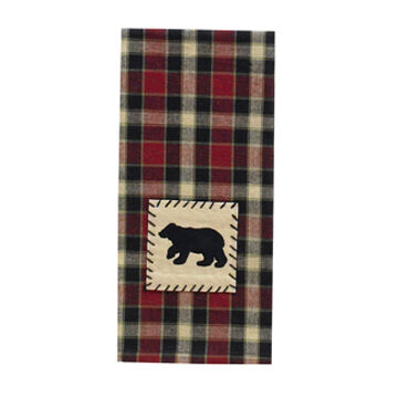Park Designs Concord Black Bear Applique Dish Towel