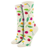 Socksmith Design Women's Cherries Crew Sock