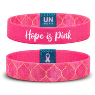 Unselfie Women's Hope is Pink Regal Pattern Wrist Band