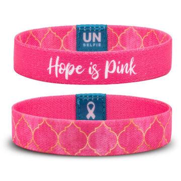 Unselfie Womens Hope is Pink Regal Pattern Wrist Band