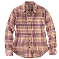 Carhartt Women's Rugged Flex Relaxed Fit Flannel Plaid Long-Sleeve Shirt