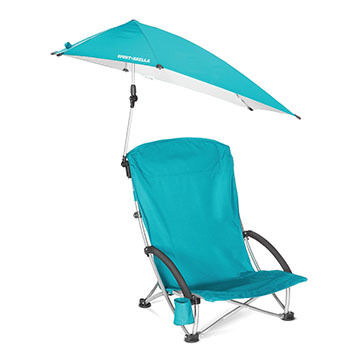 Sport-Brella Beach Chair w/ 360º Swivel Umbrella