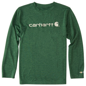 Carhartt Boys Force Logo Long-Sleeve T-Shirt