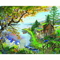 White Mountain Jigsaw Puzzle - By The Lake