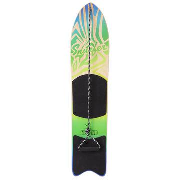 Snurfer The Nomad Green Snow Surfer Backyard Snowboard