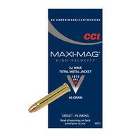 CCI Maxi-Mag 22 Winchester Magnum 40 Grain TMJ Rimfire Ammo (50)