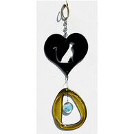 Bottle Benders Cat In Heart Metal Mini Windchime