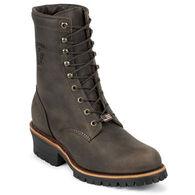 "Chippewa Men's 8"" Unlined Steel Toe Logger Sole Work Boot"