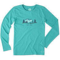 Life is Good Women's Happy Trails Crusher Long-Sleeve T-Shirt