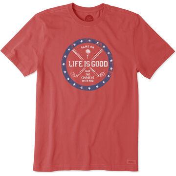 Life is Good Mens Golf Course Crusher Short-Sleeve T-Shirt