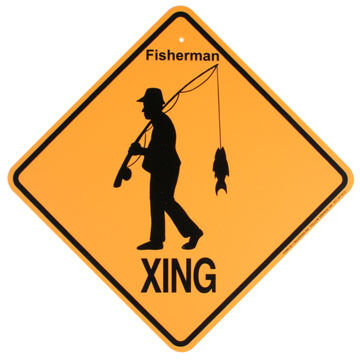 KC Creations Fisherman XING Sign