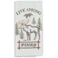 Kay Dee Designs Woodland Moose Embroidered Flour Sack Towel