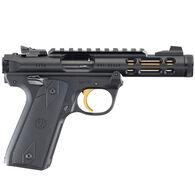 "Ruger Mark IV 22/45 Lite Black Anodized Gold TB 22 LR 4.4"" 10-Round Pistol"