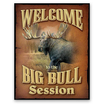 Wild Wings Welcome to the Big Bull Session Tin Sign
