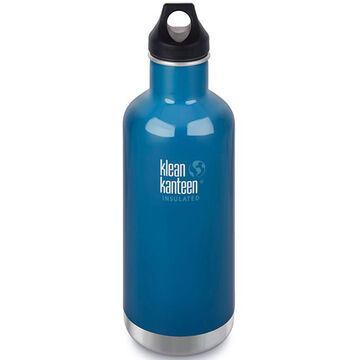 Klean Kanteen Vacuum Insulated Classic 32 oz. Stainless Steel Bottle w/ Loop Cap - Discontinued Model