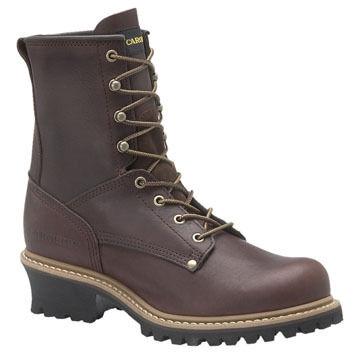 Carolina Mens 8 Steel Toe Logger Work Boot