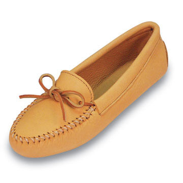 Minnetonka Womens Soft Sole Double Deerskin Moccasin