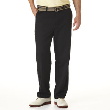 Haggar Mens Cool 18 Plain-Front Pant