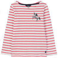 Joules Girl's Harbour Luxe Embellished Jersey Long-Sleeve Shirt
