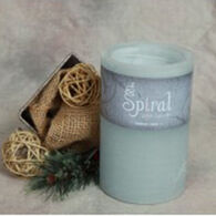 Spiral Light Candle Midnight Snow - Large
