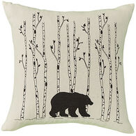 Park Designs Black Bear And Birch Tree Pillow