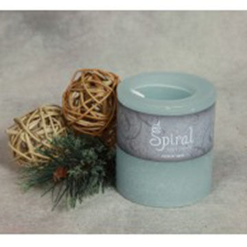 Spiral Light Candle Midnight Snow - Small