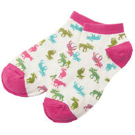 Hatley Little Blue House Women's Patterned Moose Ankle Sock